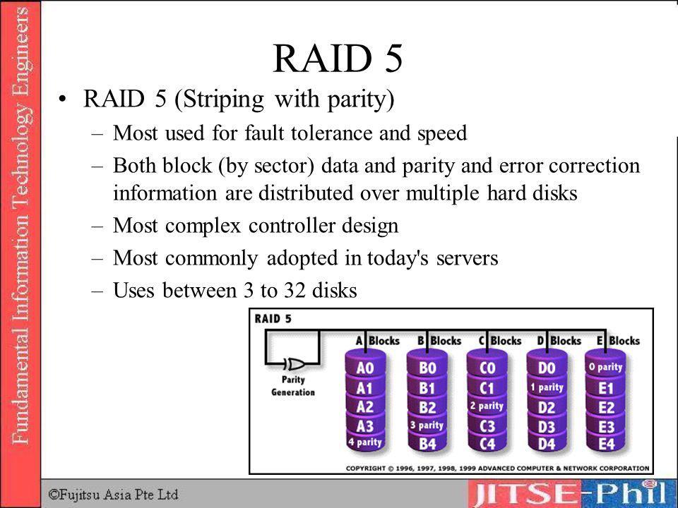 RAID 5 RAID 5 (Striping with parity)