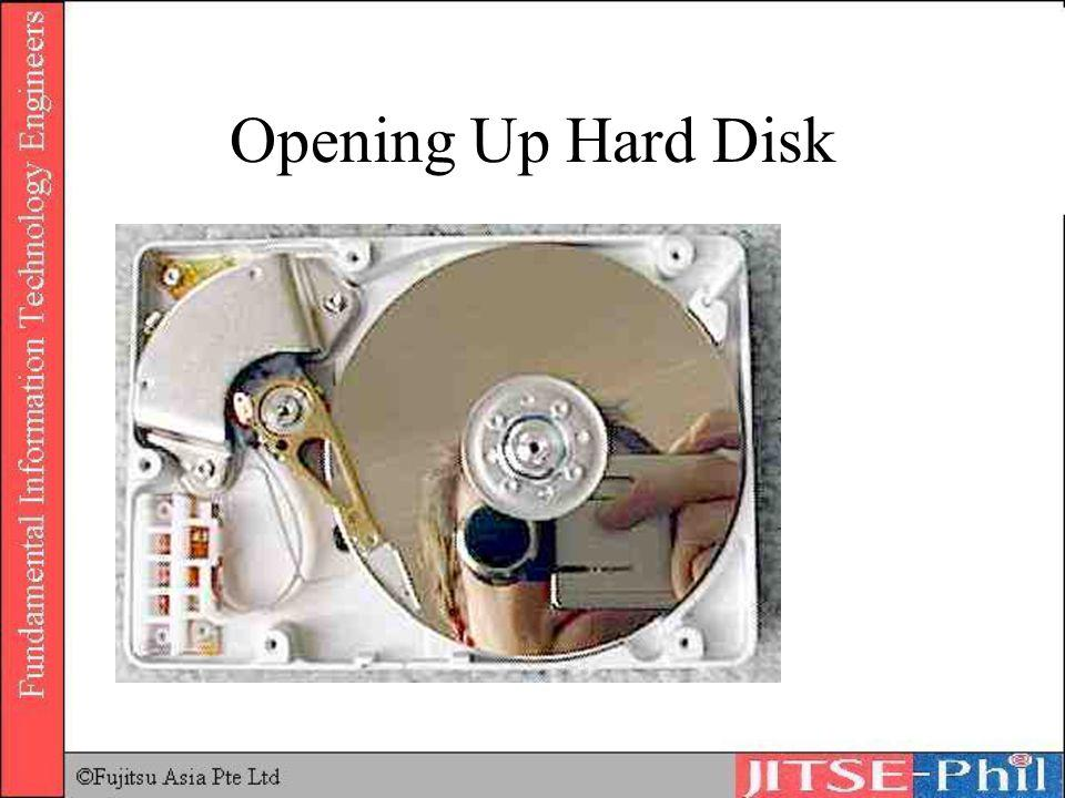 Opening Up Hard Disk