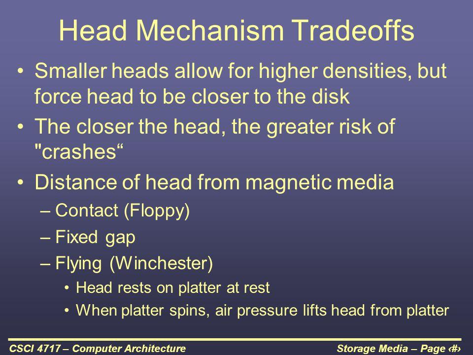 Head Mechanism Tradeoffs
