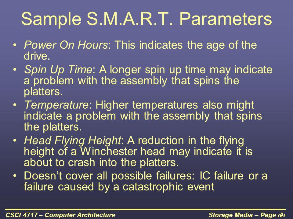 Sample S.M.A.R.T. Parameters