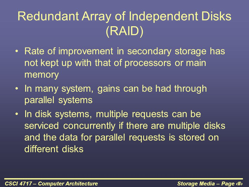 Redundant Array of Independent Disks (RAID)