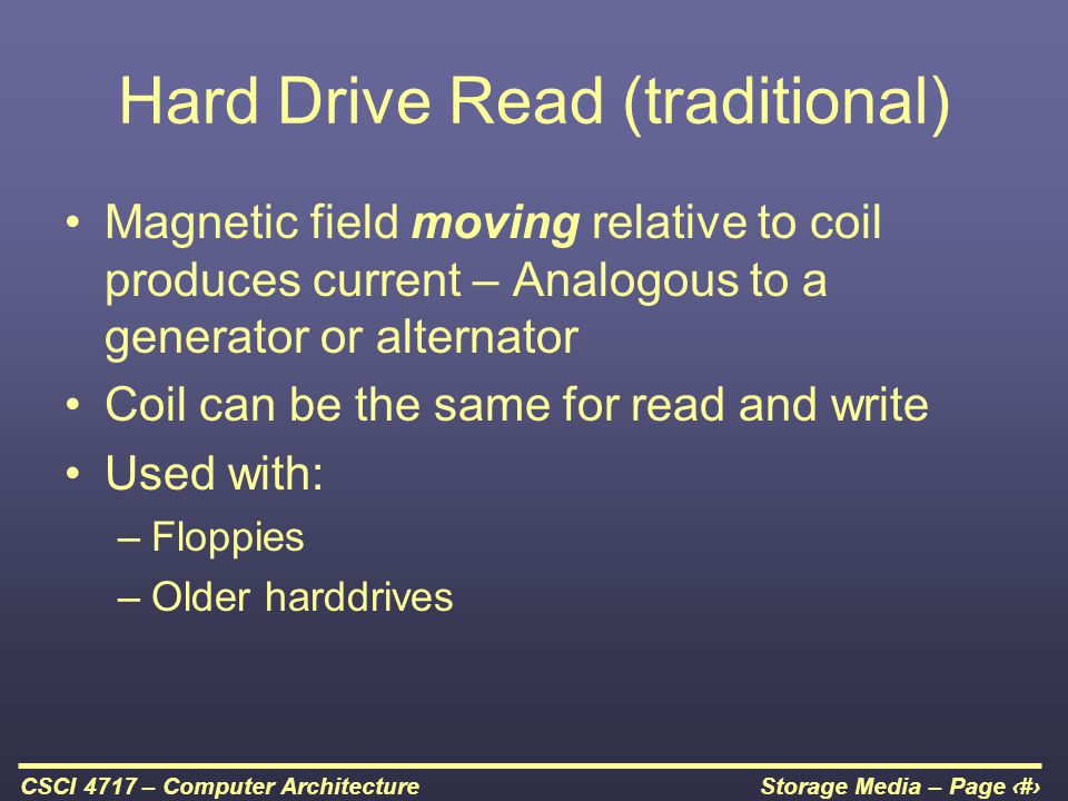 Hard Drive Read (traditional)