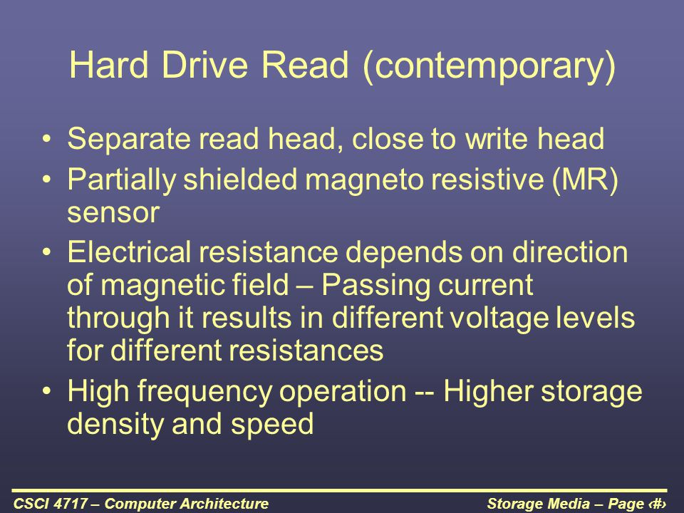Hard Drive Read (contemporary)