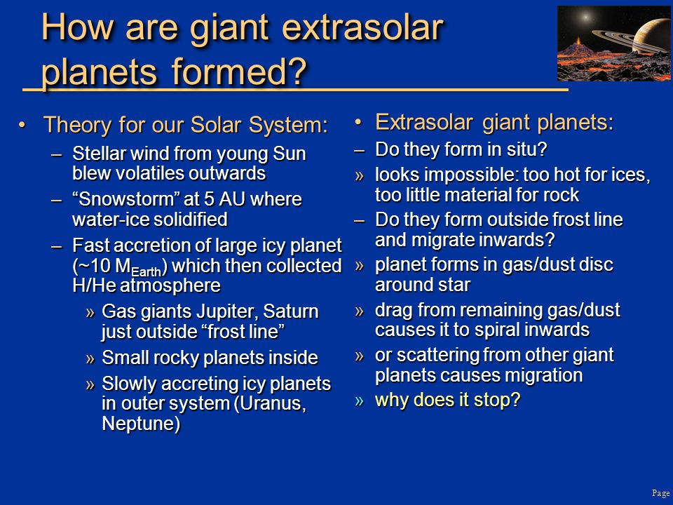 How are giant extrasolar planets formed