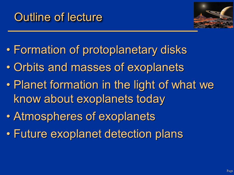 Formation of protoplanetary disks Orbits and masses of exoplanets