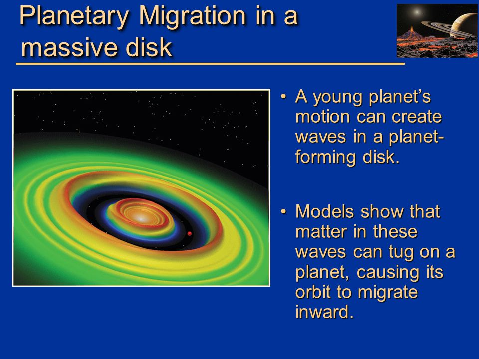 Planetary Migration in a massive disk