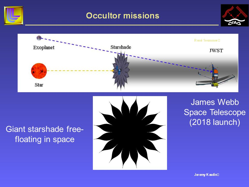Ambitious space mission: giant starshade