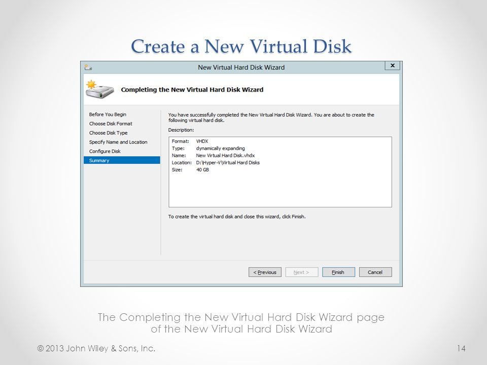 Create a New Virtual Disk