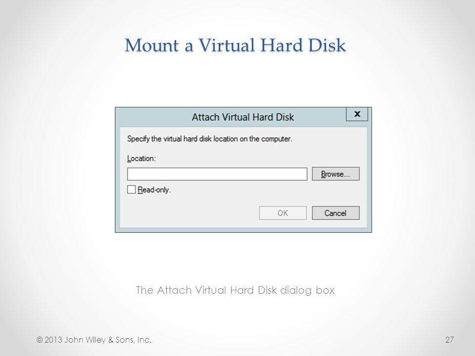 Mount a Virtual Hard Disk