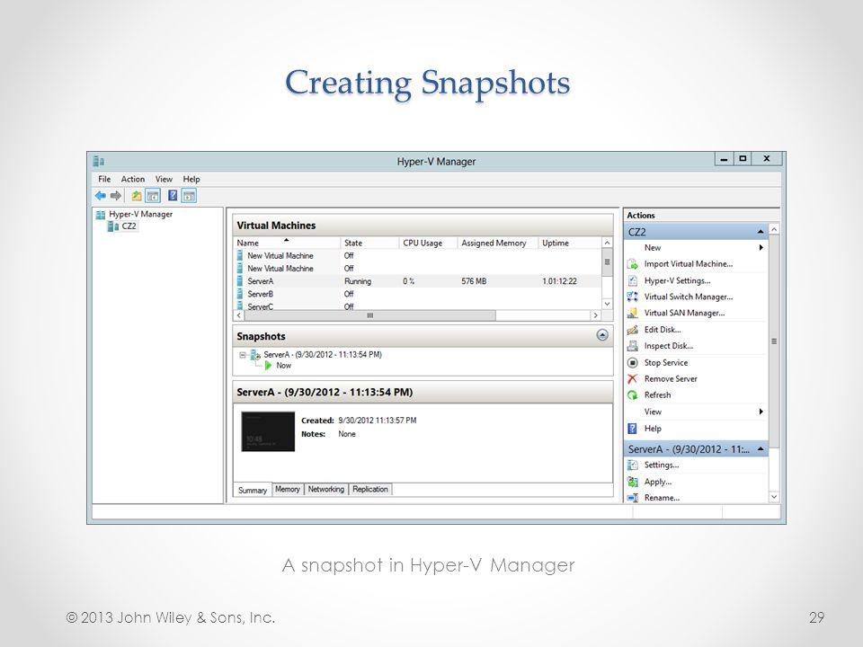 A snapshot in Hyper-V Manager