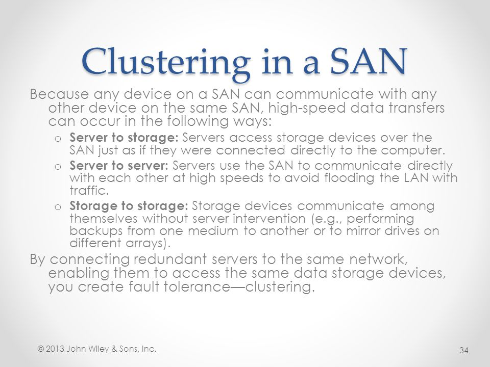 Clustering in a SAN