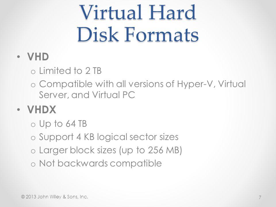 Virtual Hard Disk Formats