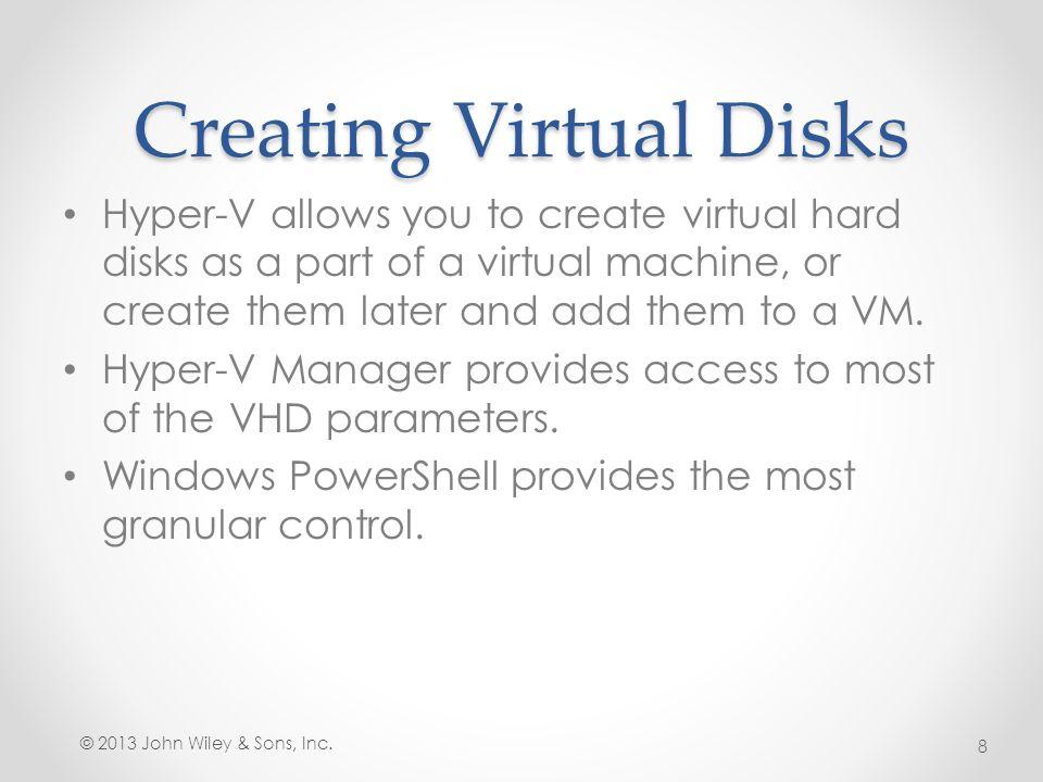 Creating Virtual Disks