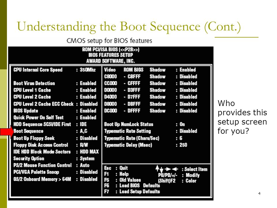 Understanding the Boot Sequence (Cont.)