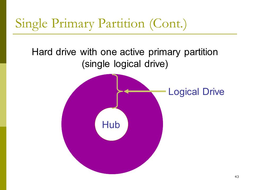 Single Primary Partition (Cont.)