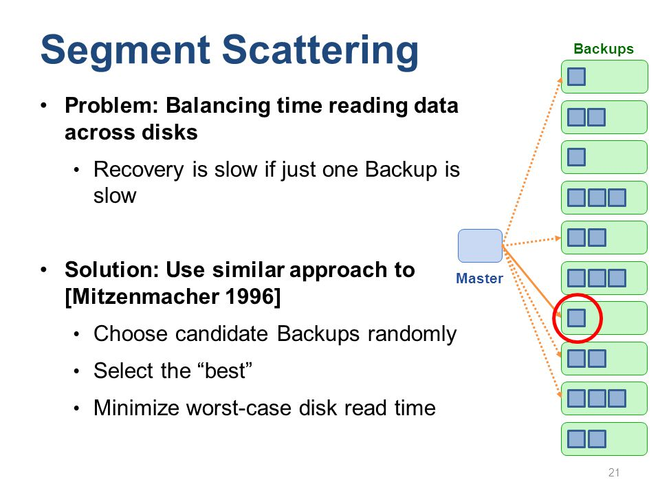 Segment Scattering Problem: Balancing time reading data across disks