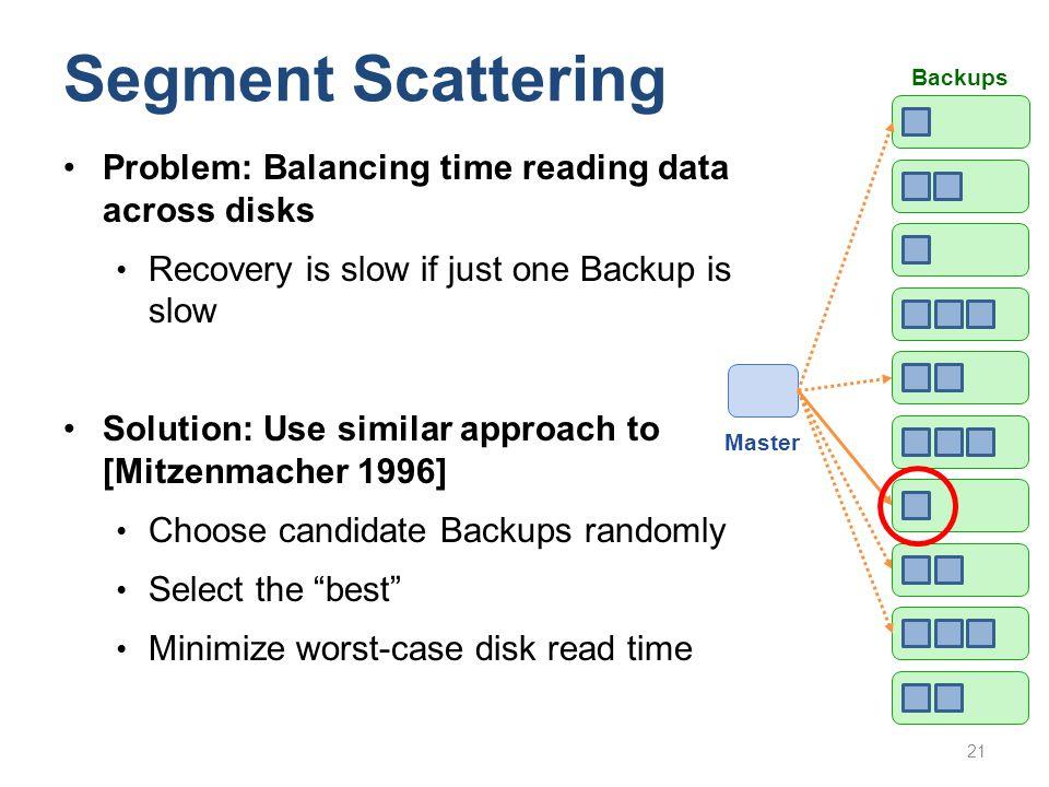 Segment Scattering Problem: Balancing time reading data across disks