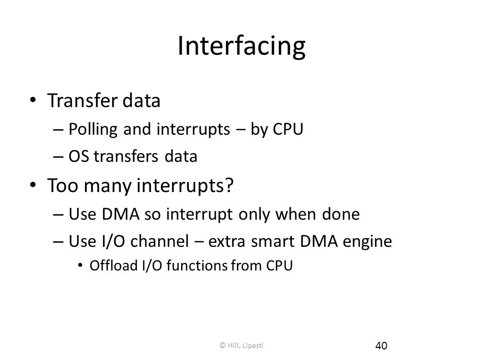 Interfacing Transfer data Too many interrupts