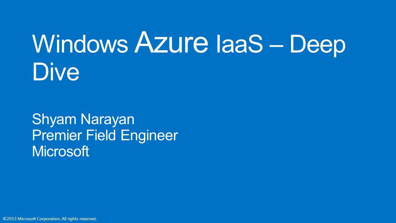 Windows Azure IaaS – Deep Dive