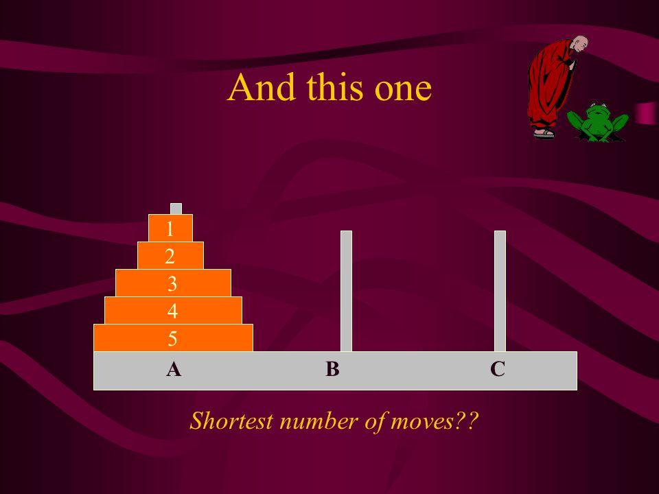 Shortest number of moves