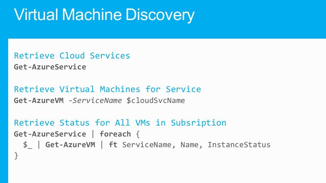 Virtual Machine Discovery