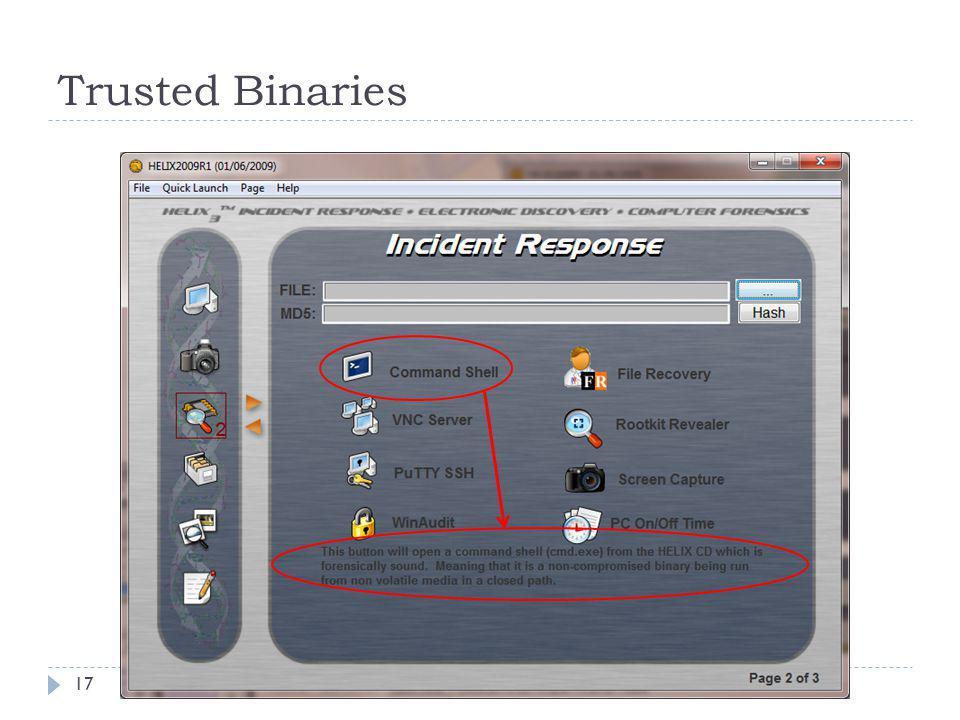Trusted Binaries