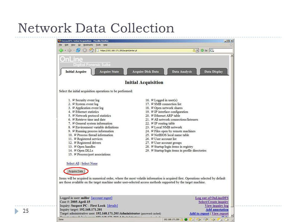 Network Data Collection