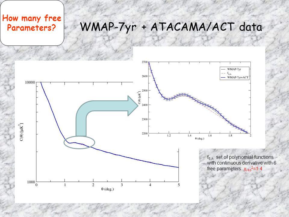 WMAP-7yr + ATACAMA/ACT data