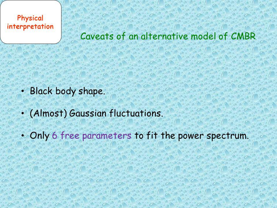 Caveats of an alternative model of CMBR