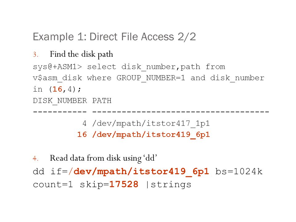 Example 1: Direct File Access 2/2