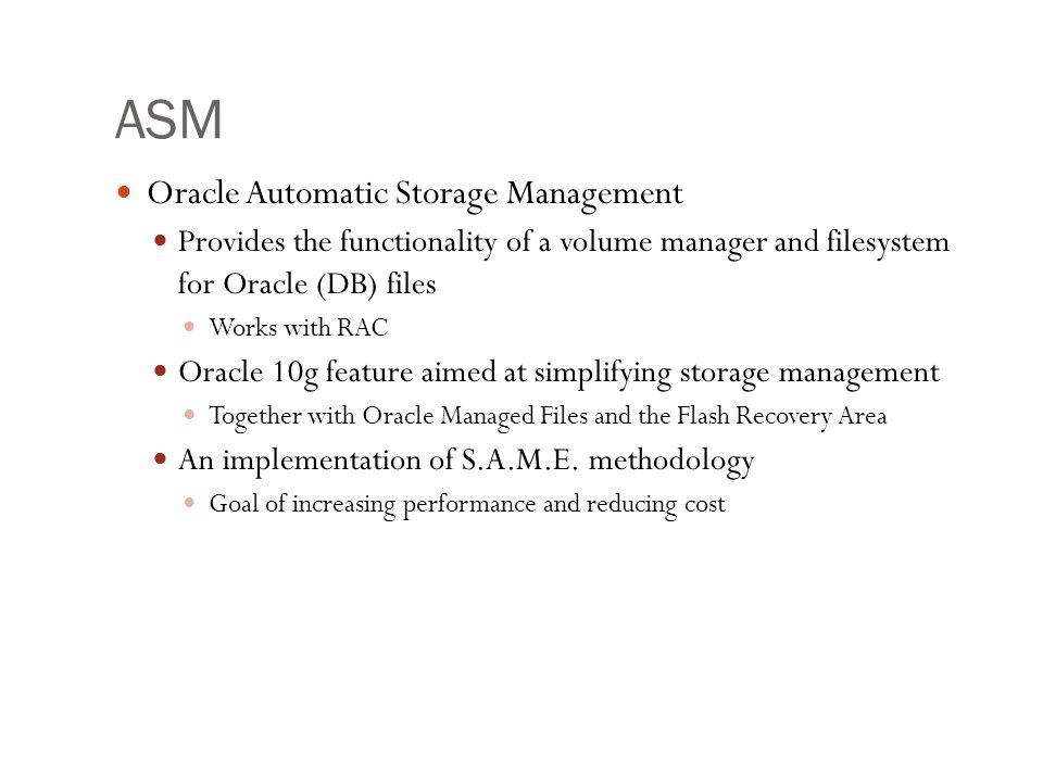 ASM Oracle Automatic Storage Management