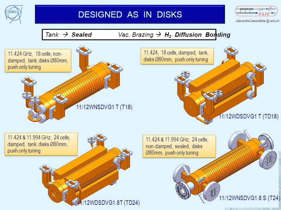 DESIGNED AS IN DISKS Tank  Sealed Vac. Brazing  H2 Diffusion Bonding