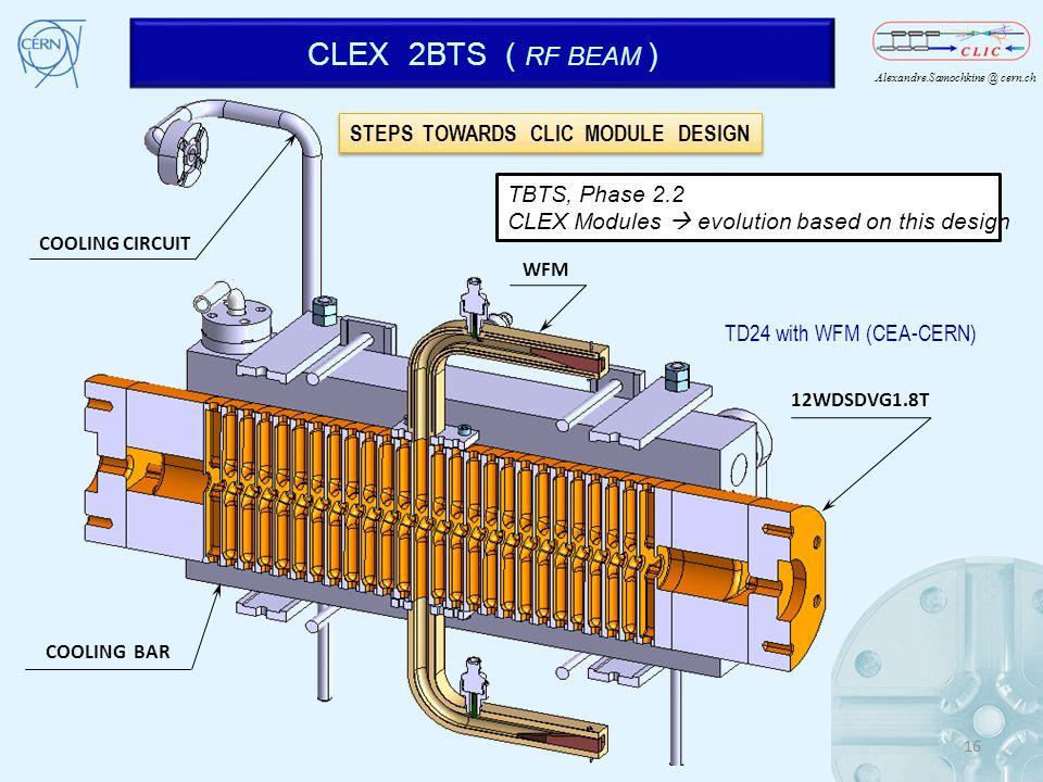CLEX 2BTS ( RF BEAM ) STEPS TOWARDS CLIC MODULE DESIGN TBTS, Phase 2.2