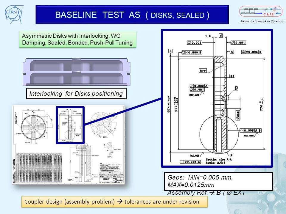 BASELINE TEST AS ( DISKS, SEALED )