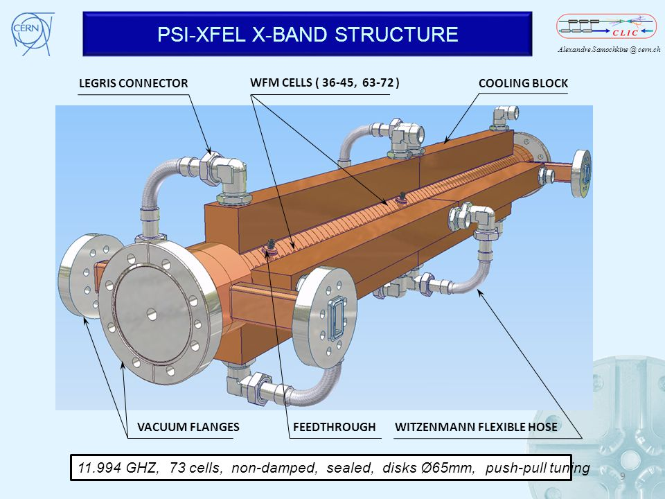 PSI-XFEL X-BAND STRUCTURE