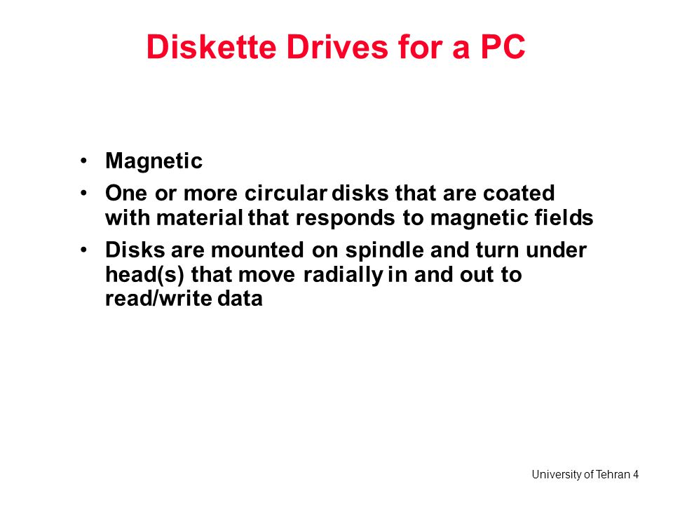 Diskette Drives for a PC