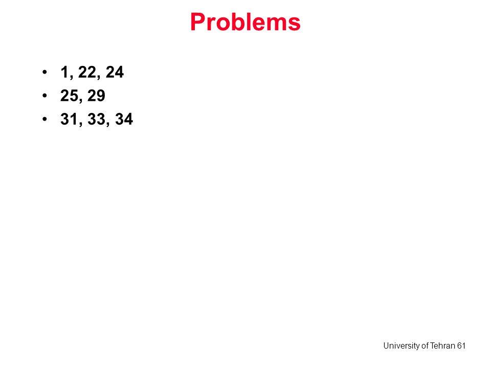 Problems 1, 22, 24 25, 29 31, 33, 34