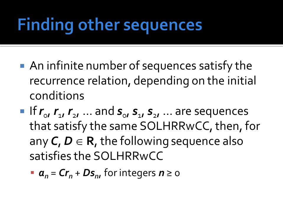 Finding other sequences