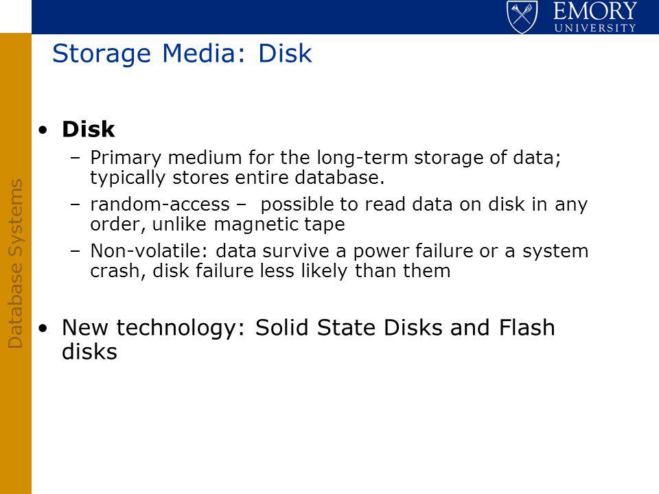 Storage Media: Disk Disk