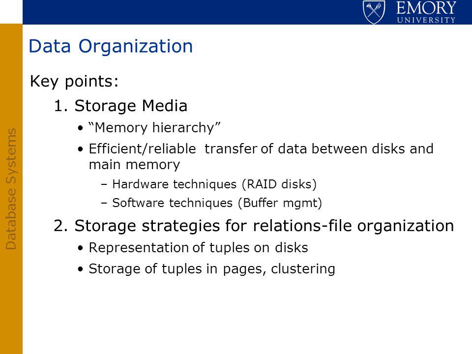 Data Organization Key points: 1. Storage Media