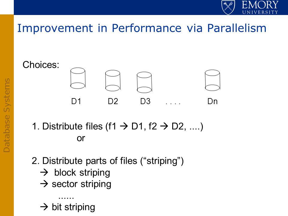 Improvement in Performance via Parallelism