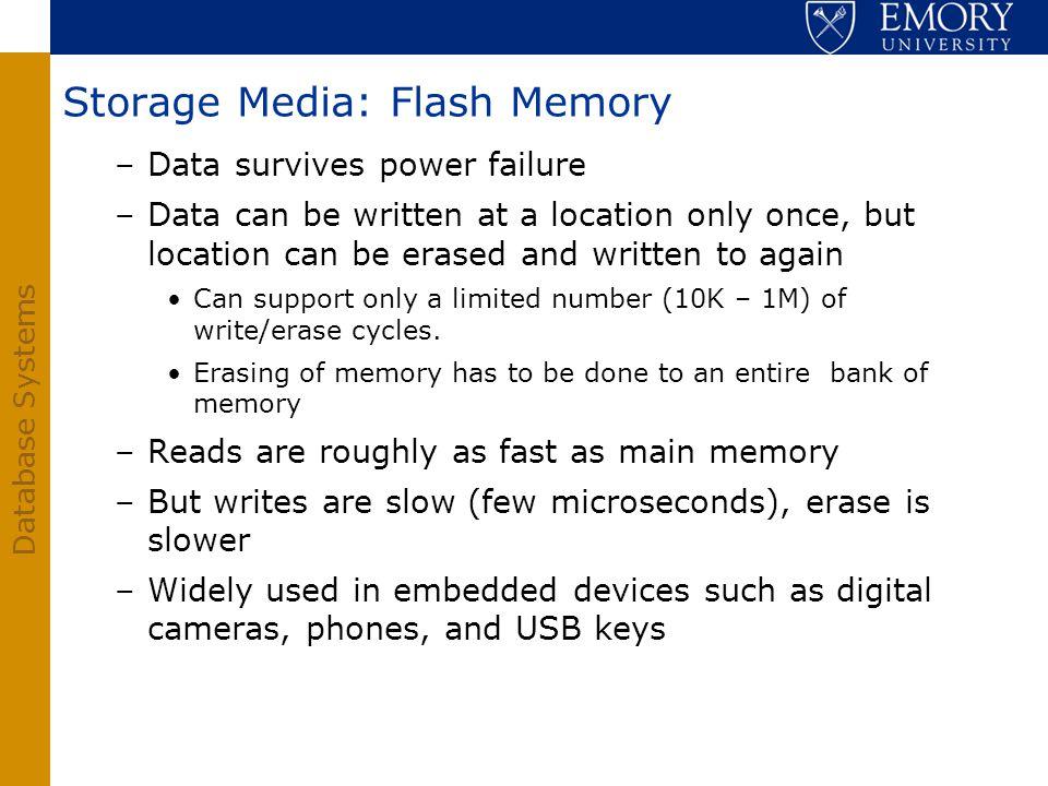 Storage Media: Flash Memory