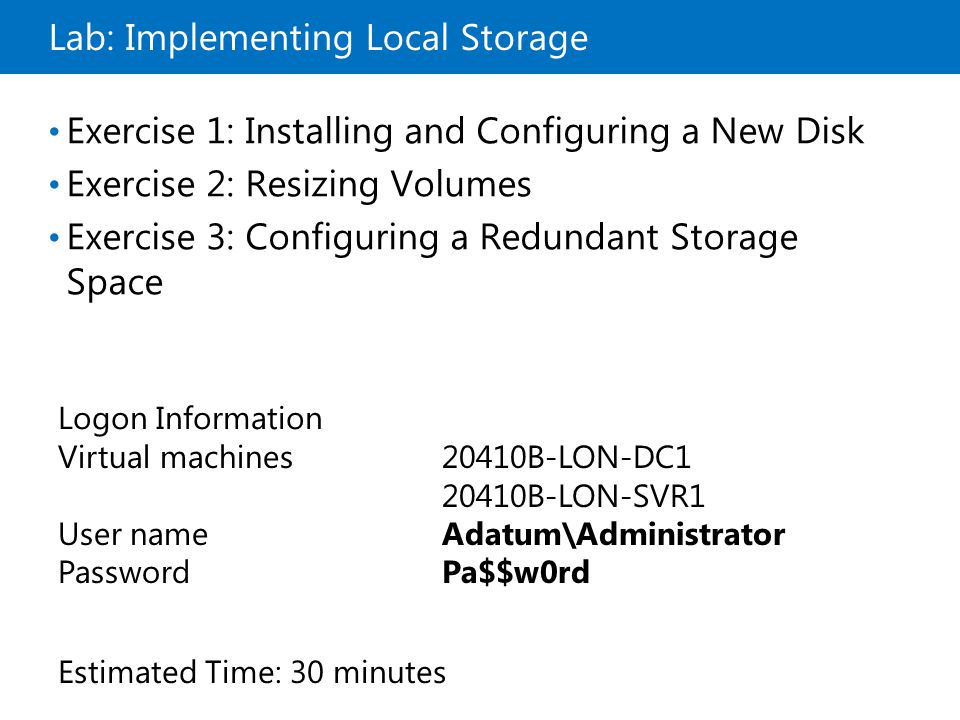 Lab: Implementing Local Storage