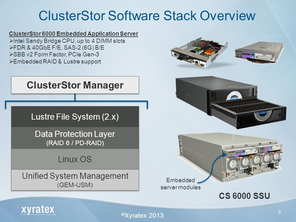 ClusterStor Software Stack Overview