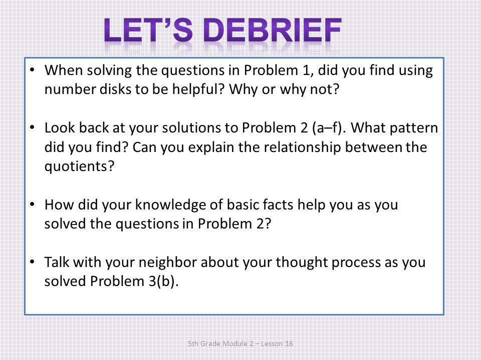 5th Grade Module 2 – Lesson 16