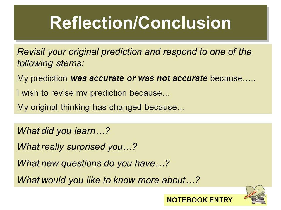 Reflection/Conclusion