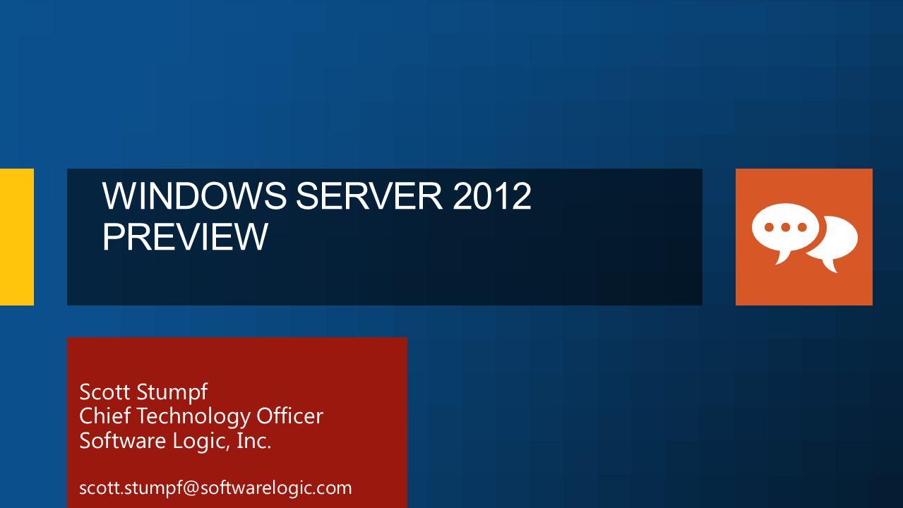 WINDOWS SERVER 2012 PREVIEW