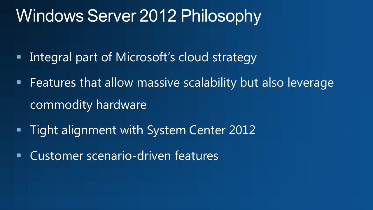 Windows Server 2012 Philosophy
