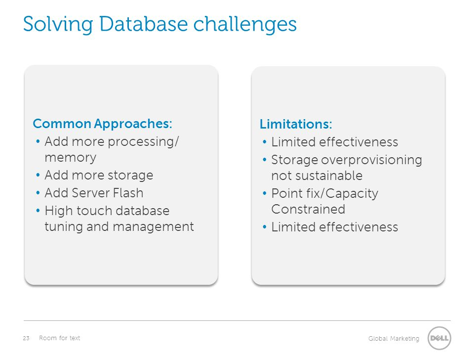 Solving Database challenges