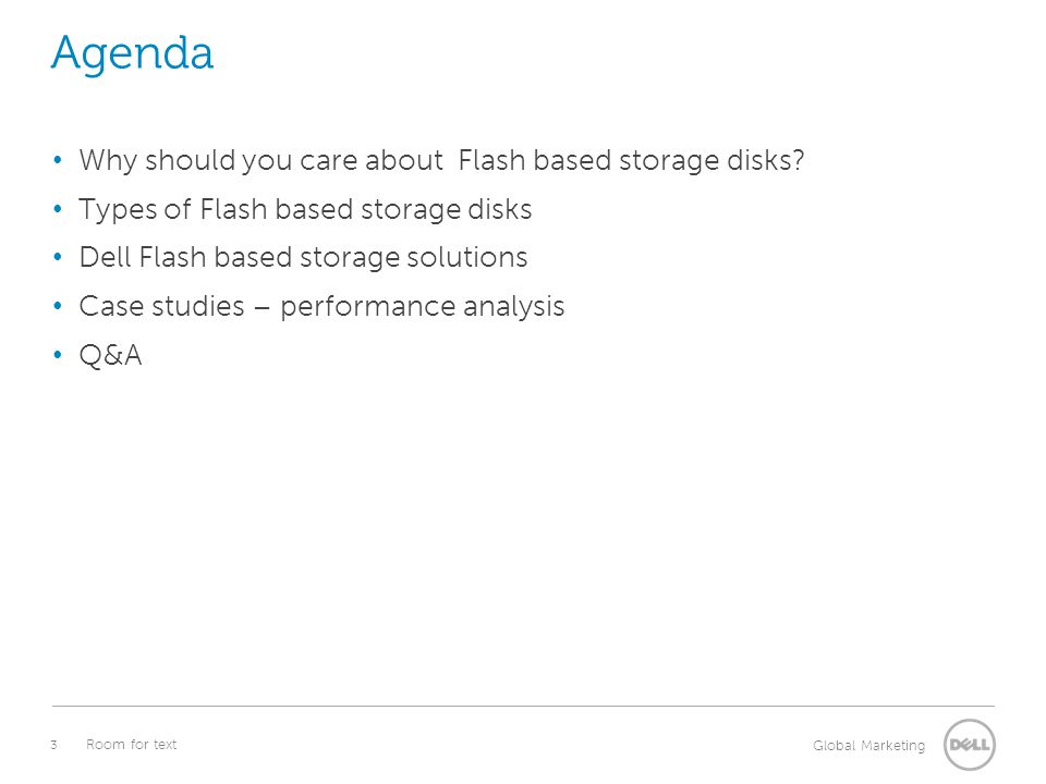 Agenda Why should you care about Flash based storage disks